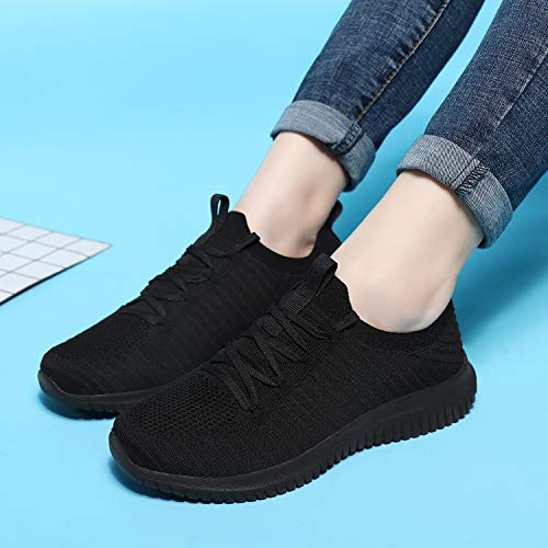 FILWO Mens Womens Walking Running Shoes - Slip On Memory Foam Lightweight Tennis Shoes Casual Athletic Sneakers