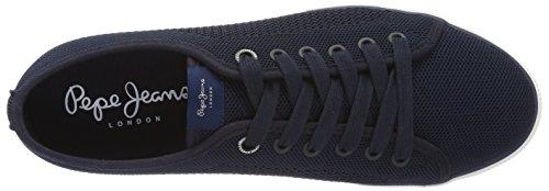 Ginnastica Knit Scarpe Blu Pepe Aberman Jeans da Marine Basse Uomo AttEXq