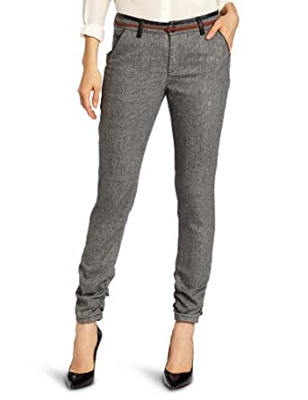 D.E.P.T. Women's Multicolour Tweed Stretch Trouser, Black, X-Small