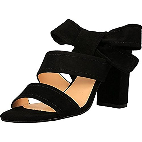 (Ivanka Trump Women's Kiffie, Black Suede, 9 Medium US)