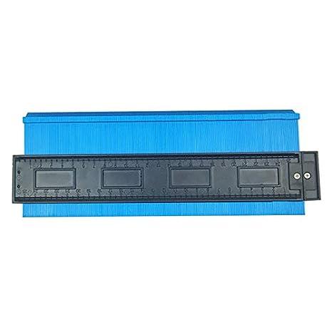 duplicador Laminado Profesional en Forma de carpinter/ía feeilty Contour Gauge 12 cm Azul 12//25 cm Regla de Calibre de Perfil Irregular para medici/ón precisa