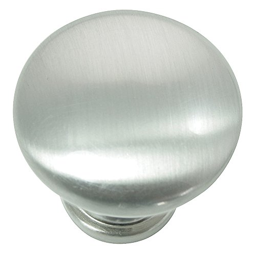 Laurey 54628 Danica Hollow Steel Knob, 1 3/8-Inch, Brushed Satin Nickel
