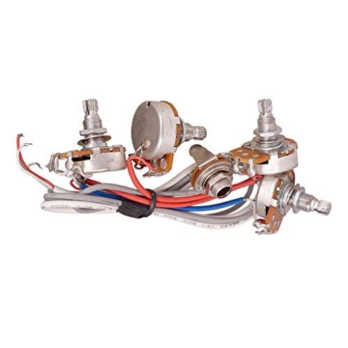 MonkeyJack Guitar Tone Volume Control Circuit Wiring Pots Plug for LP EPI Guitar Accessory ()