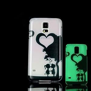 YULIN Teléfono Móvil Samsung - Cobertor Posterior - Gráfico/Diseño Especial/Resplandor en la Oscuridad - para Samsung S5 i9600 Plástico )