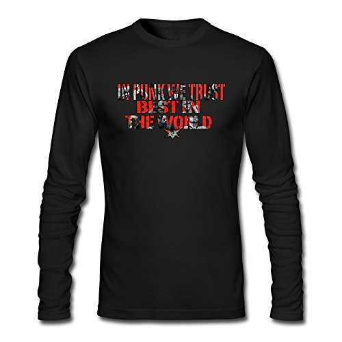 Wwe M Punk Costumes - Seico Mens Cm Punk Wrestler Tee Shirts Black Size M