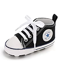 Baby Girls Boys Canvas Shoes Soft Sole Toddler First...