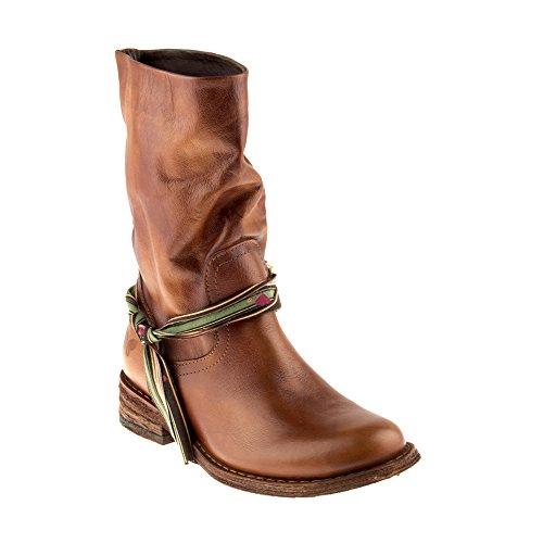 Stivali In Pelle Scarpe Classic Genuina Innamorarsi Donna Marrone Marrone 6878 com chiaro Gredo chiaro Felmini F4pqx