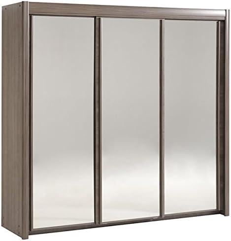 Armario de puertas correderas de colour gris plateado y madera de ...