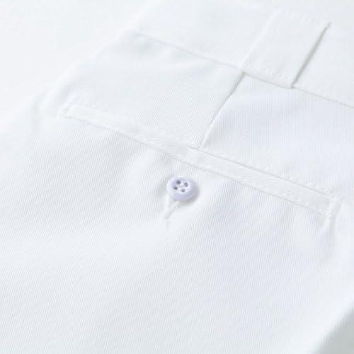 メンズ ややゆったりめ サイドポケット付 ショートパンツ 42-283 【並行輸入品】 (28, ホワイト)