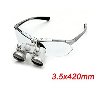 665e6b7df3d7 Image Unavailable. Image not available for. Color  Zinnor Dentist Dental  Surgical Medical Binocular Loupes 3.5X 420mm Optical Glass Loupe ...
