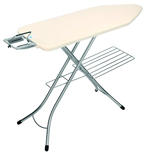 Brabantia Ironing Board with Steam Iron Rest and Linen Rack, Size C, Wide - Ecru Cover