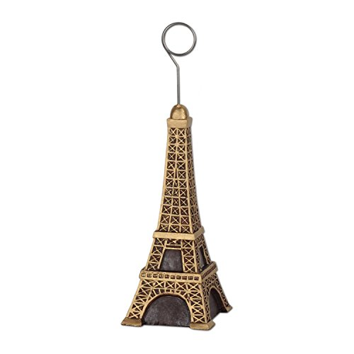 Pack of 6 Eiffel Tower Photo or Balloon Holder Party Decorations 6oz -