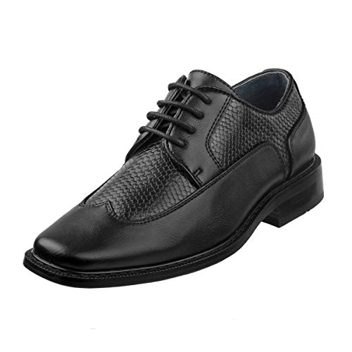 (Joseph Allen Boy\'s Wing Tip Oxford Dress Shoe (Toddler, Little Kid, Big Kid) (10 M US Toddler, Black)