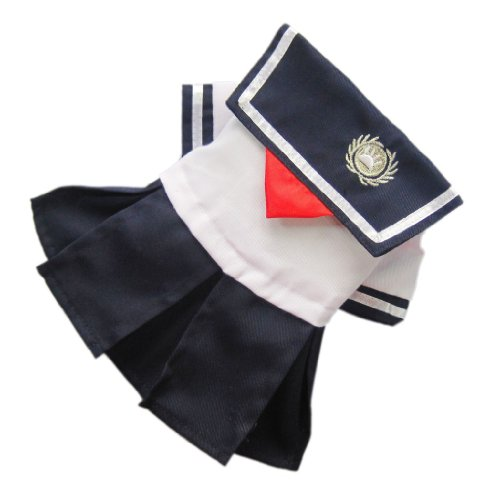 Sweetie Nautical For Dog Dress Dog Shirt Cozy Dog Clothes Sailor Pet Dress Free Shipping,Black and white,M, My Pet Supplies