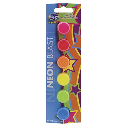 DecoArt Americana 6-Pot Set, Neon Blast