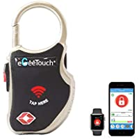 eGeeTouch Smart TSA Travel Lock - Secure & Track Your Luggage Backpack Cabinet Anywhere You Go. (Black)