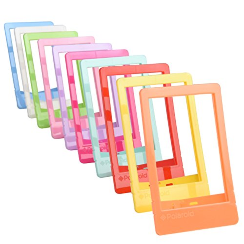 "Polaroid 10 Colorful 2x3"" Mini Photo Picture Frames For 2x3 Photo Paper (Snap, Zip, - Photo Frames Instant"