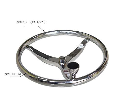 """For SeaStar and Verado Excellent Marine Boat Steering Wheel 3 Spoke 13-1//2/"""" Dia"""