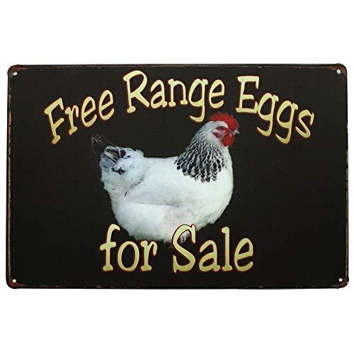 "Mega-deal Farm Free Range Eggs For Sale Retro Vintage Tin Bar Sign Country Home Decor 8"" x 12"""