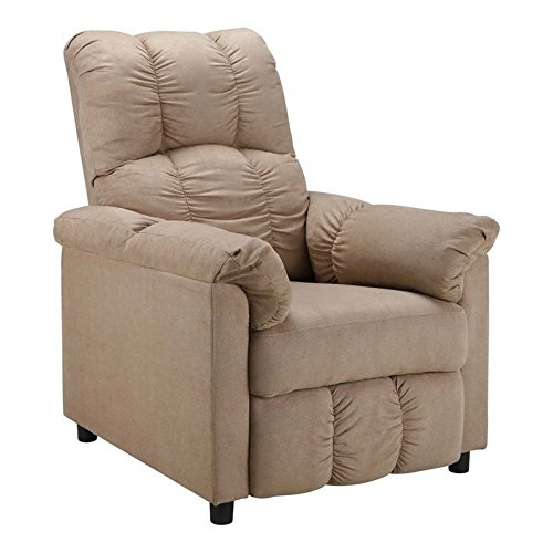 Dorel Living Slim Recliner, Beige (Chairs For Sale)