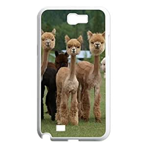 Alpaca Customized Cover Case with Hard Shell Protection for Samsung Galaxy Note 2 N7100 Case lxa#920186