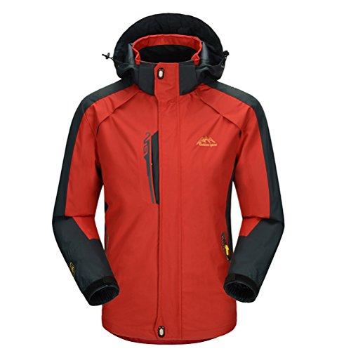 Reefer Express (Bcamel Men's Winter Thicker Fleece Hooded Windproof Waterproof Insulated Warm Snowboard Ski Jacket Coat Outdoor)