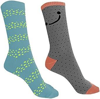Luanvi 08762 Pack con 2 Pares Calcetines, Mujer, Multicolor, M: Amazon.es: Ropa y accesorios
