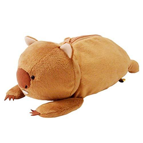 plush bear Candice Guo Cartoon Animal Wombat Family Koala Bear Platypus Plush Toy Doll Bag Small -
