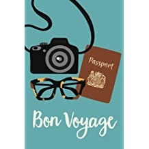 """Travel Journal: Bon Voyage Journal, Notebook, Diary, 6""""x9"""", 150 Pages"""