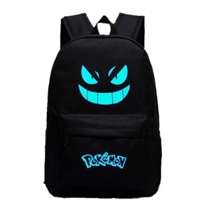 Pokemon Go negro luminoso mochila hombros bolsa portátil bolsa mochila nuevo