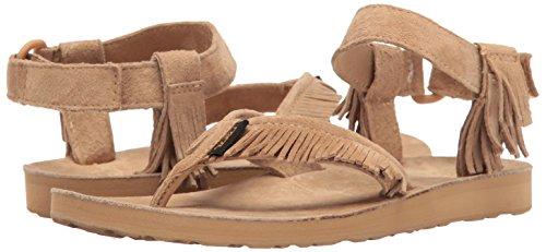 Marron Original Teva Cuir Sandal Leather Fringe Femmes Tongs 0Px0q1n8