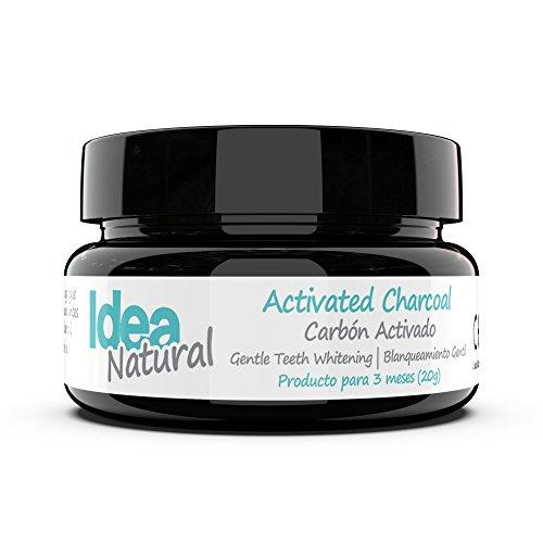 Blanqueador Dental Carbón Activado - IDEA NATURAL - 100% NATURAL - No OGM, Mejor que las tiras, Pasta de Dientes. Elimina...
