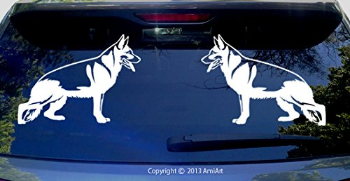 Amazon com german shepherd decal left x 7 3 inch outdoor vinyl for car truck windows
