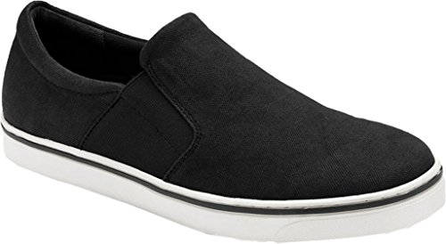 VIONIC Mens Maddox Slip-On Loafer Black Canvas