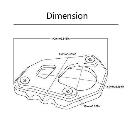 motorcycle kickstand side stand enlarger extension enlarger pate pad For KTM 1090 Adventure 2017 2018 1190 Adventure 2015 2016 1050 Adventure 1290 Super Adventure 2015-2018 Grey - Orange