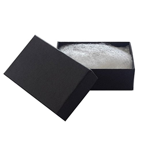 JPI DISPLAY #21 Cotton Filled Paper Jewelry Boxes, Matte Black, 100 Count