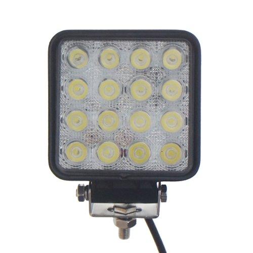 TMH 48w Square Shape 60 Degree LED Work Light Flood Lamp Driving Light, Jeep, Off-road, 4wd, 4x4, Utv, Sand Rail, Atv, Suv, Motorbike, Motorcycle, Bike, Dirt Bike, Bus, Trailer, Truck, -