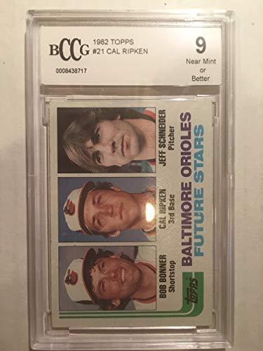 - 1982 topps #21 CAL RIPKEN JR baltimore orioles rookie card BGS BCCG 9 Graded Card