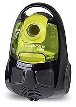 Rowenta RO2522WA Aspiradora, 2000 W, 1.2 L, 77 dB, color negro y amarillo