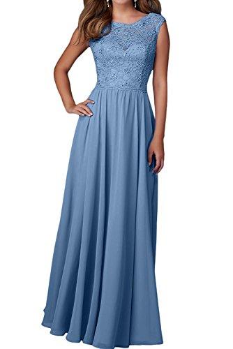 Abendkleider Blau Langes Damen Ballkleider Kleider Festliche Brautjungfernkleider Lilac Chiffon Charmant Etuikleider SvIRUqWq