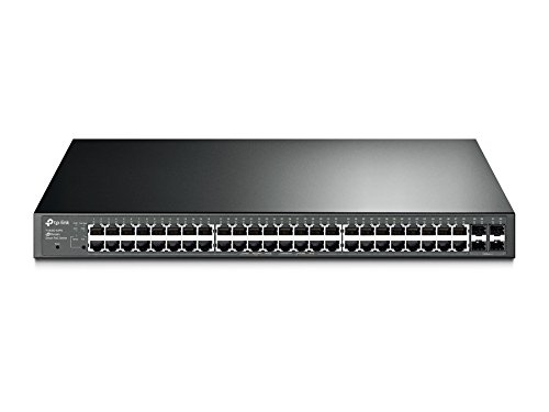 TP-Link T1600G-52PS JetStream 48-Port Gigabit Smart PoE+ Switch with 4 SFP Slots