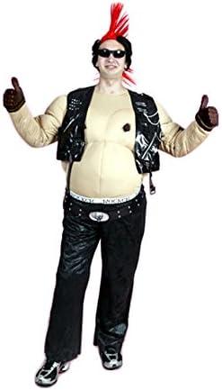 Disfraz de Motero Gordo para hombre talla M-L: Amazon.es: Juguetes ...