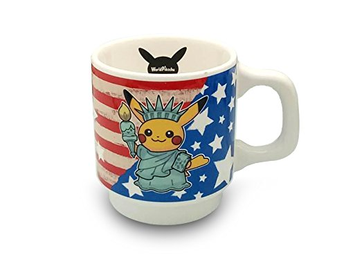 Finex Pokemon Yellow Female Pikachu in Statue of Liberty Costume White Ceramic Coffee Mug Water Tea Cup
