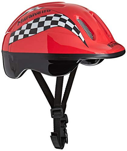 SULOV - Casque de vélo pour enfant avec des flammes - Rose - Taille: M
