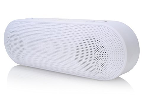 2BOOM Boom Go Wireless Bluetooth Portable Speaker with Built-in Microphone  - White