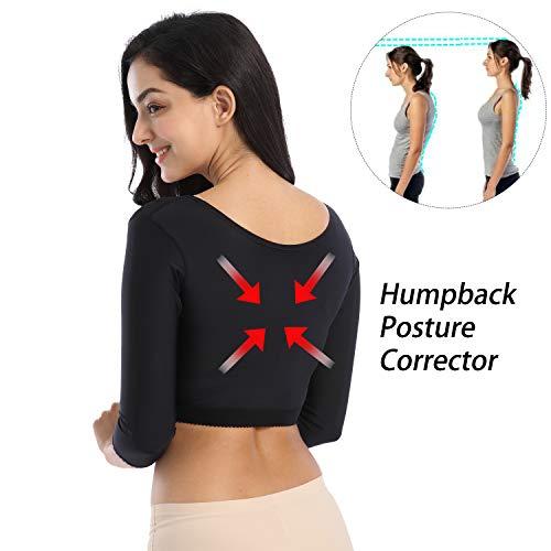 2449e39139a10 Lechiry Women s Compression Sleeves Upper Arm Shaper Plus Size Vest Back  Shoulder Humpback Posture Corrector Shapewear