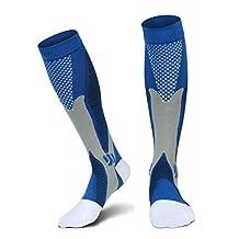 Graduated Compression Socks for Men Women,Best for Running,Nurses,Shin Splints,Flight Travel & Maternity Pregnancy