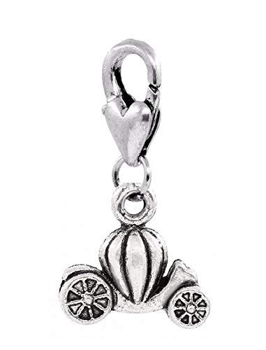 Pendant Jewelry Making Pumpkin Carriage Princess Coach Cinderella Clip On Dangle Charm for Bracelets