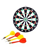 Toyvian Dartboard Dartboard Set Tournament Board Double Sided Dartboard Game for Indoor Outdoor Use (Random Colour)