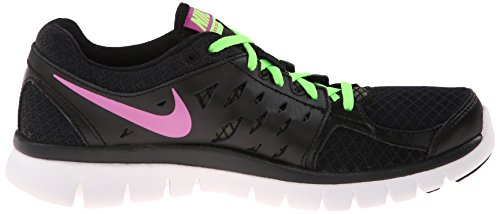 Nike Flex 2013 Run Nero / Lime / Pink Da Running Da Donna Nero / Flash Lime / Bianco / Club Pink